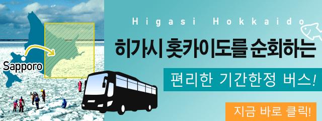 히가시 홋카이도를 순회하는 편리한 기간한정 버스!