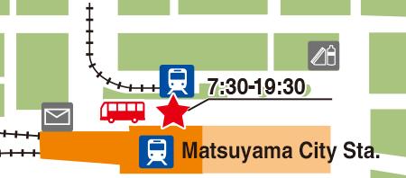 Matsuyama City Station Iyotetsu Ticket Center