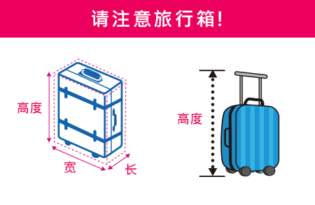 请注意旅行箱