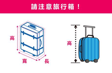 請注意旅行箱!