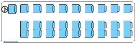 3 seats per row (2+1)