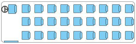 3 individual seats per row