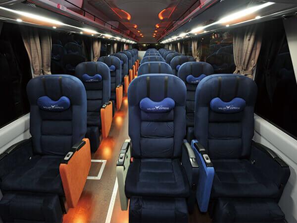 3 seats per row(2+1)